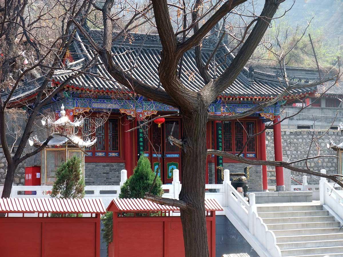 Pátio interno do templo, em Huashan