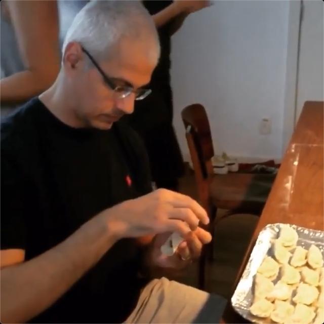 preparando jiaozi
