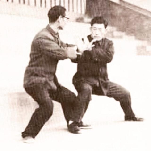 Chen Xiaowang ensinando tuishou