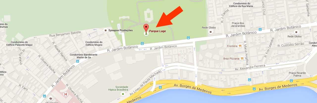 Mapa para o Parque Lage