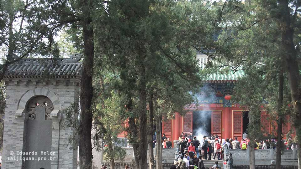Pátio interno de Shaolin