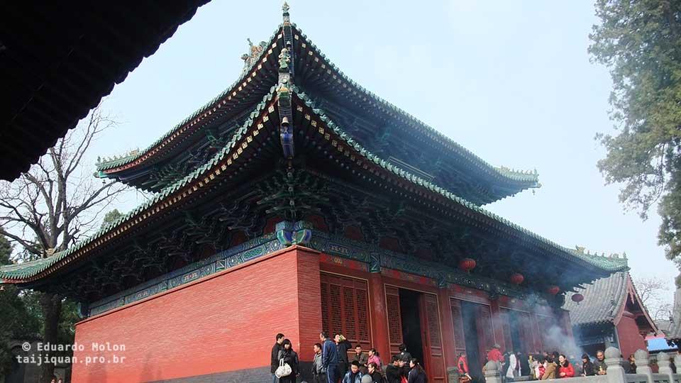 Pavilhão interno em Shaolin